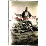 WWII Photo Of Airman With Motorcycle
