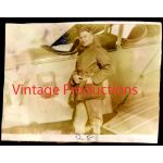 WWI Pilot In Front of Aircraft Photo
