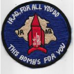 US Navy Hey Iraq This Bombs For You Tour Patch