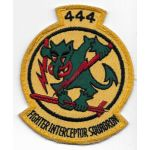 1950's-60's US Air Force 444th Fighter Interceptor Squadron Patch On Twill