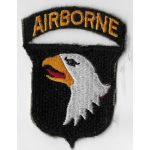WWII 101st Airborne Division One Piece Greenback Patch