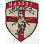 Vietnam 187th Assault Helicopter Company MAGGOT CRUSADERS Oversized Pocket Patch