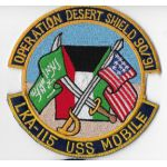 LKA-115 USS Mobile Operation Desert Shield Cruise Patch