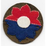 WWII - Occupation 9th Division German Made Patch