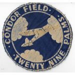 WWII Condor Field Glider School Twenty-Nine Palms California Squadron Patch