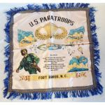 1950's Fort Bragg Paratrooper Sweetheart Pillow Case