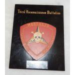 Vietnam US Marine Corps 3rd Recon Battalion Presentation Plaque