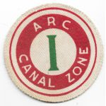 WWII American Red Cross Canal Zone Patch