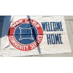 WWII War Camp Community Service Welcome Home Flag