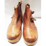 WWII Wood And leather German Prison Shoes