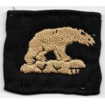 WWII US Marine Corps Iceland Detachment Hand Embroidered Patch