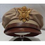 WWII Army Officers Khaki Visor Cap