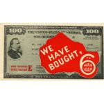 WWII We Have Bought 6th War Loan Home Front Window Decal