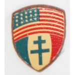 WWII Free French Forces / US Leather Patriotic Patch (?)