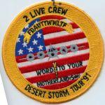 US Navy 2 Live Crew Desert Storm Tour 91 Squadron Patch