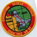 Operation Desert Storm Iraq Pac 90-91 Philippine Made Patch