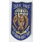 1950's-60's 1st Airborne Battle Group 325th Infantry Pocket Patch
