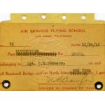 WWI Air Service Flying School San Diego Motorcycle License