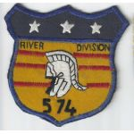 Vietnam US Navy River Division 574 Patch