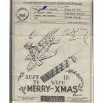 WWII V-1 Buzz Bomb US Coast Guard Rescue Flotilla Xmas V-Mail