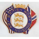 WWII American Relief Fund (ARF) British Work Division Donation Badge