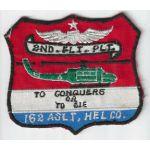Vietnam 162nd Assault Helicopter Company 2nd Flight Platoon Pocket Patch