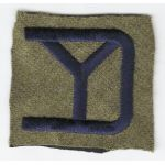 1920's-30's 26th Division Patch On Mustard Wool