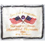 WWI US 3rd Army German Occupation Sweetheart Wall Hanger Souvenir Of Rhineland