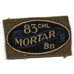 WWII 83rd Chemical Mortar Battalion Italian Made Patch
