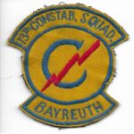 Occupation Era 13th Constabulary Squadron Bayreuth German Made Patch