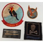 1950's Douglas Aircraft Company Navy Tech Rep Squadron Patch Grouping