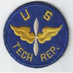 WWII AAF US Tech Rep Patch