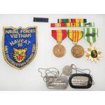 Vietnam US Navy Construction Action Team 10 Veteran's Insignia Group