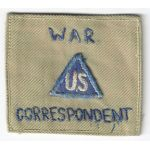 WWII Non-Combatant War Correspondent CBI Made Patch
