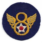 WWII 8th Air Force STUBBY Wing English Made Patch