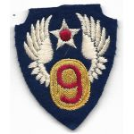 WWII English Made Identified 9th Air Force Patch