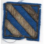 Korean War 3rd Division Japanese Made Bullion Patch