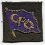 1940's-50's GHQ / General Headquarters Japanese Made Bullion Patch