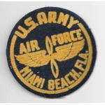 WWII Miami Beach AAF Flocked Patch