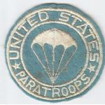 WWII US Paratroopers PX Type Patch