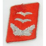 WWII German Flak Luftwaffe Oberlt Single Bullion Collar Tab