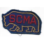 1940's Southern California Military Academy Bear Patch