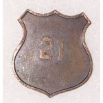 WWI 21st State Guard Enlisted Collar Disc
