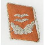 WWII German Signal  Luftwaffe Oberlt Single Bullion Collar Tab