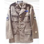 WWII US Army Identified 8th Air Force Service Coat With Theatre Made Patches