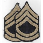 WWII Technical Sergeant Identified Theatre Made Chevron Set