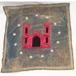 WWI Engineers In France Bullion & Velvet Wall Hanger / Pillow Case
