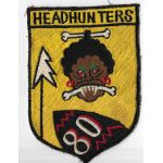 Korean War US Air Force HEAD HUNTERS 80th Fighter Squadron Patch