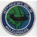 Vietnam 147th Assault Support Helicopter Company HILL CLIMBERS Pocket Patch