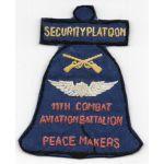 Vietnam 11th Combat Aviation Battalion Security Platoon PEACE MAKERS Pocket Patch